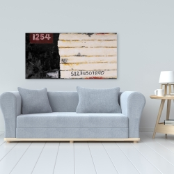 Canvas 24 x 48 - Wooden pallets looking art with numbers