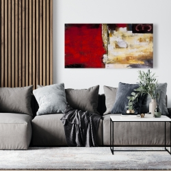 Canvas 24 x 48 - Abstract industrial art with numbers