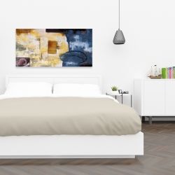 Canvas 24 x 48 - Abstract art with numbers