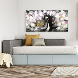 Canvas 24 x 48 - Beautiful spotted peacock