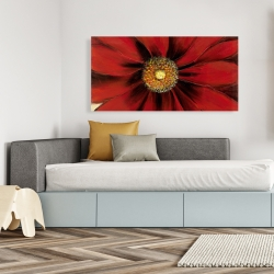 Canvas 24 x 48 - Red daisy
