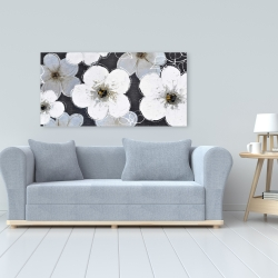 Canvas 24 x 48 - Gray flowers