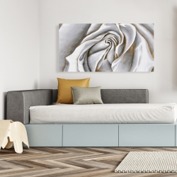 Canvas 24 x 48 - White rose delicate