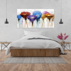 Canvas 24 x 48 - Colorful flowers
