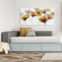 Canvas 24 x 48 - Color spotted flowers