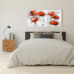 Canvas 24 x 48 - Red flowers
