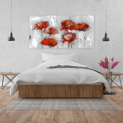 Canvas 24 x 48 - Abstract poppies