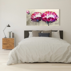 Canvas 24 x 48 - Two wild flowers