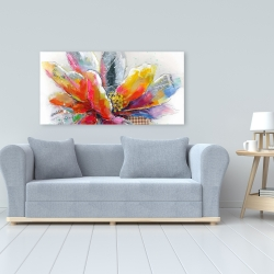 Canvas 24 x 48 - Abstract flower with texture