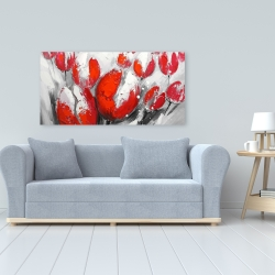 Canvas 24 x 48 - Red tulips