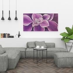 Canvas 24 x 48 - Purple flower closeup