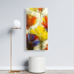 Canvas 24 x 48 - Modern yellow flowers