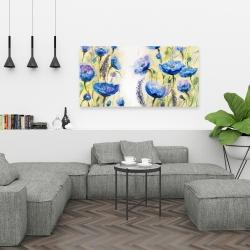 Canvas 24 x 48 - Blue garden