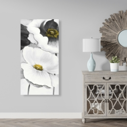 Canvas 24 x 48 - Assorted white flowers