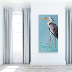 Canvas 24 x 48 - Grey heron
