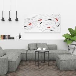 Canvas 24 x 48 - Swimming fish swirl