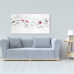 Canvas 24 x 48 - Swimming fish wave