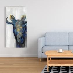 Canvas 24 x 48 - Blue moose
