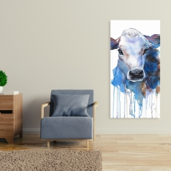 Canvas 24 x 48 - Watercolor jersey cow