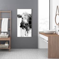 Canvas 24 x 48 - Jersey cow