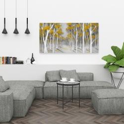 Canvas 24 x 48 - Yellow birch forest