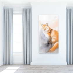 Canvas 24 x 48 - Watercolor fox