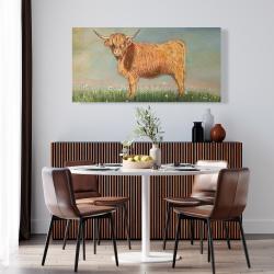 Canvas 24 x 48 - Daisy the highland cow