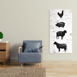Canvas 24 x 48 - Farm animals