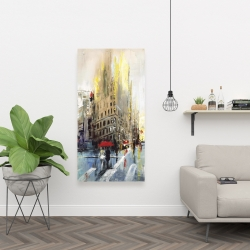 Canvas 24 x 48 - Abstract rainy street