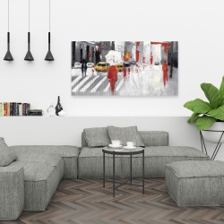 Canvas 24 x 48 - Abstract cloudy city street