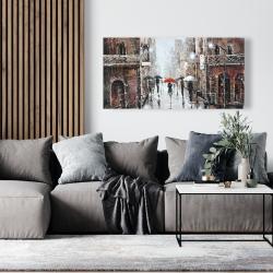 Canvas 24 x 48 - City rain