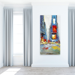 Canvas 24 x 48 - Abstract and colorful buildings