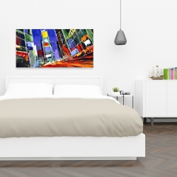 Canvas 24 x 48 - Colorful times square by night