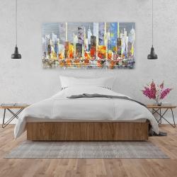 Canvas 24 x 48 - Color splash cityscape