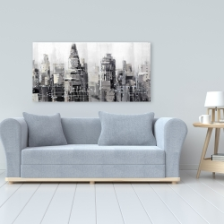 Canvas 24 x 48 - Gray city