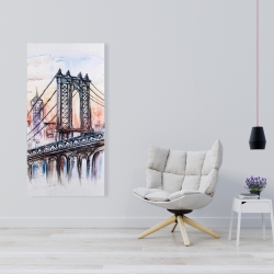 Canvas 24 x 48 - Bridge sketch