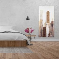Canvas 24 x 48 - Abstract earthy tones city