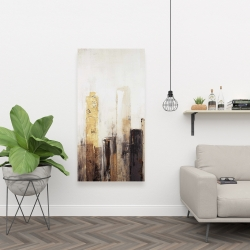 Canvas 24 x 48 - Earthy tones city