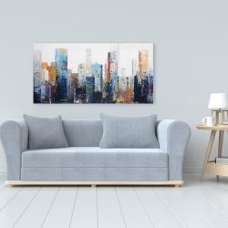 Canvas 24 x 48 - Texturized abstract city