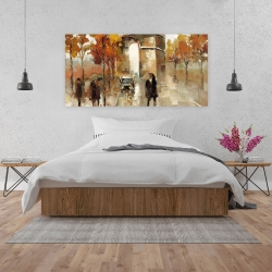 Canvas 24 x 48 - Arc de triomphe in autumn