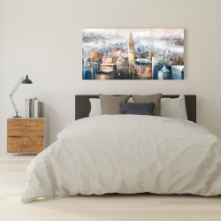 Canvas 24 x 48 - Cityscape of new york with the chrysler building