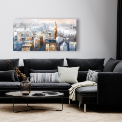 Canvas 24 x 48 - Abstract new york city