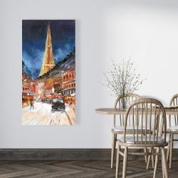 Canvas 24 x 48 - Illuminated paris