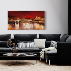 Canvas 24 x 48 - Paris by red dawn