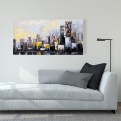 Canvas 24 x 48 - Abstract city in the morning