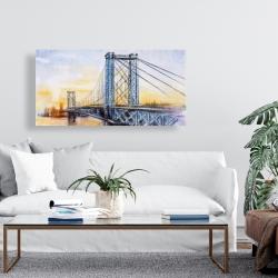Canvas 24 x 48 - Abstract brooklyn bridge
