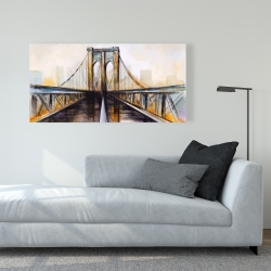 Canvas 24 x 48 - Colorful brooklyn bridge