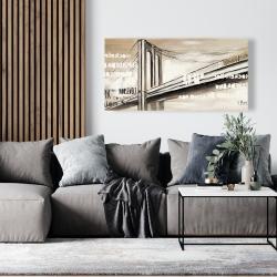 Canvas 24 x 48 - City brige