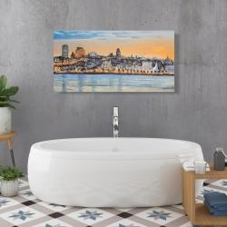 Canvas 24 x 48 - Skyline of quebec city