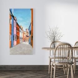 Canvas 24 x 48 - Colorful houses in italy